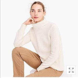 JCrew women's roll neck sweater cotton